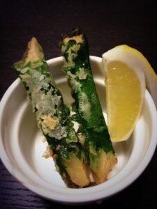 新生姜とシソの大葉の天ぷら