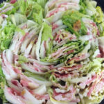 【生姜たっぷり、豚肉と白菜のミルフィーユ鍋】