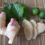 新生姜のフレーバーウォーターレシピ