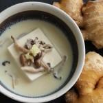 【生姜と豆腐の豆乳スープ】